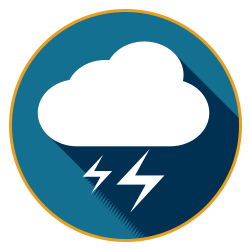 blue lightning button