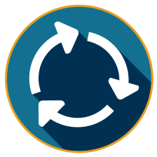 blue circle arrows icon