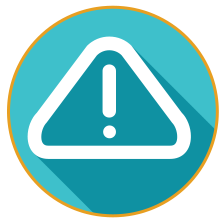 blue warning icon